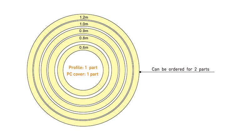 LED Circular Light dimension