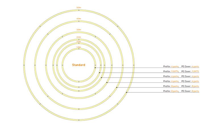 Circular LED Chandelier large size