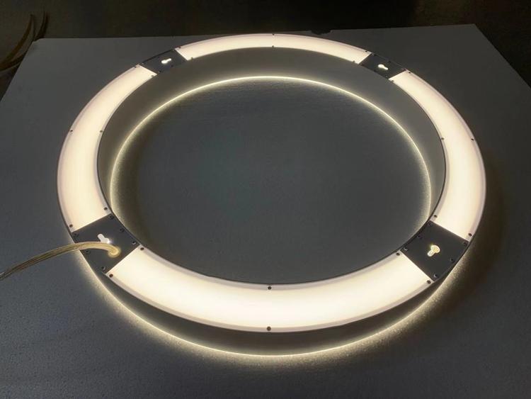 Modern Circle Chandelier indirect light
