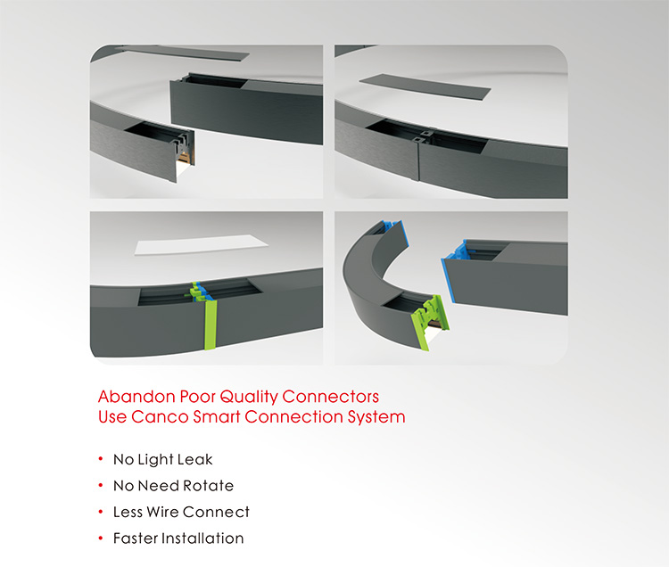LED Circular Light connection system