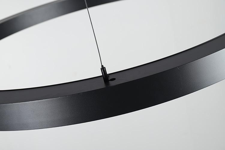 Circular LED Chandelier details