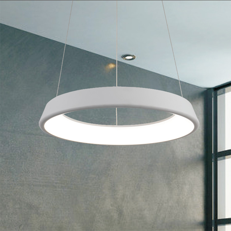 Hanging LED Light Fixtures in room