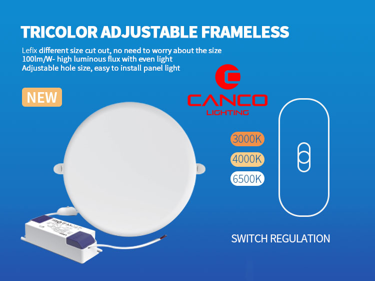 recessed slim led panel light