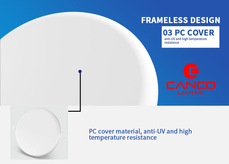 led recessed panel pc cover
