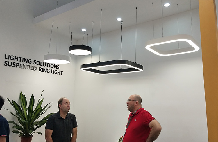 Square Linear Light in meeting