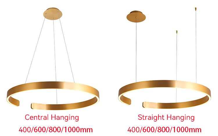Black Ring Pendant Light