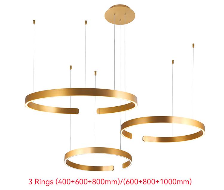 3 Ring led Pendant Light
