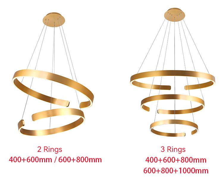 3 Ring Pendant Light photos