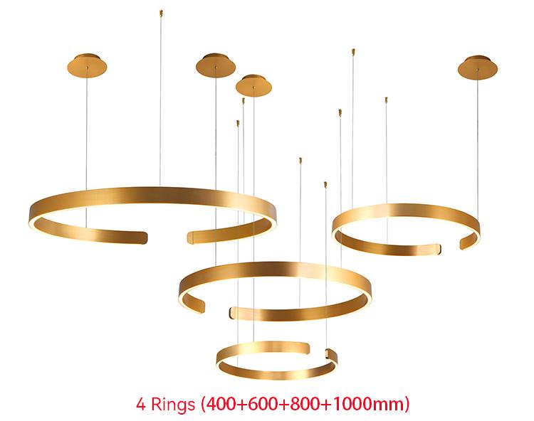 3 Ring Pendant Light