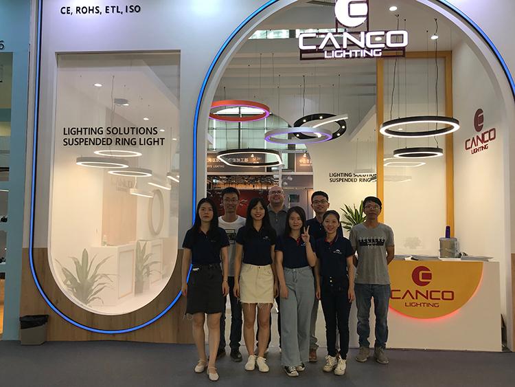 Black Ring Pendant Light sales team