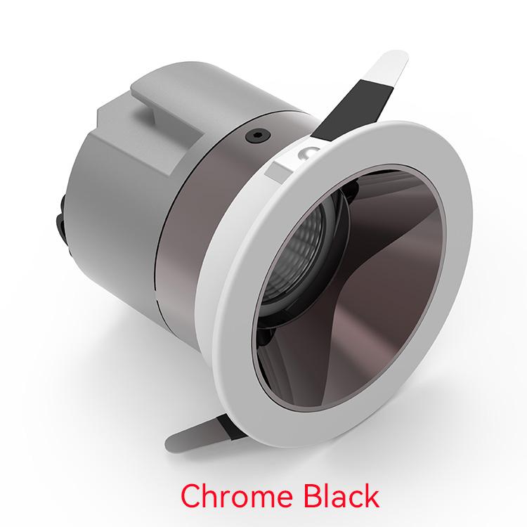 Chrome black Bedroom Downlights