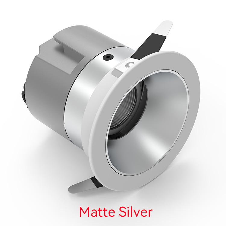 matte silver Best Downlights For Bedroom