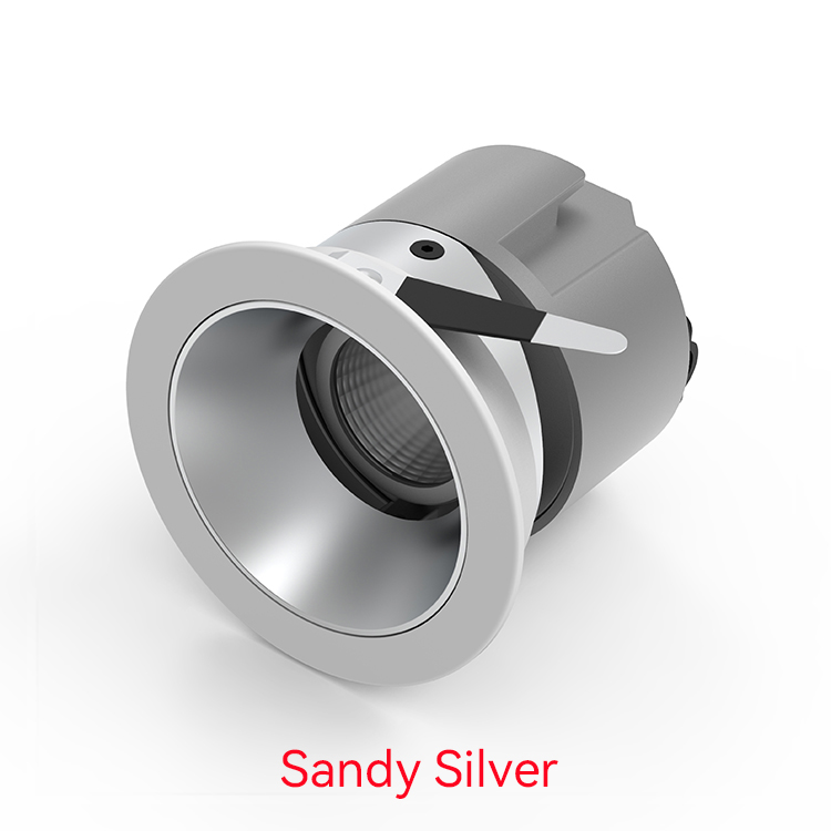 Sandy Silver Recessed Wall Washer Downlight