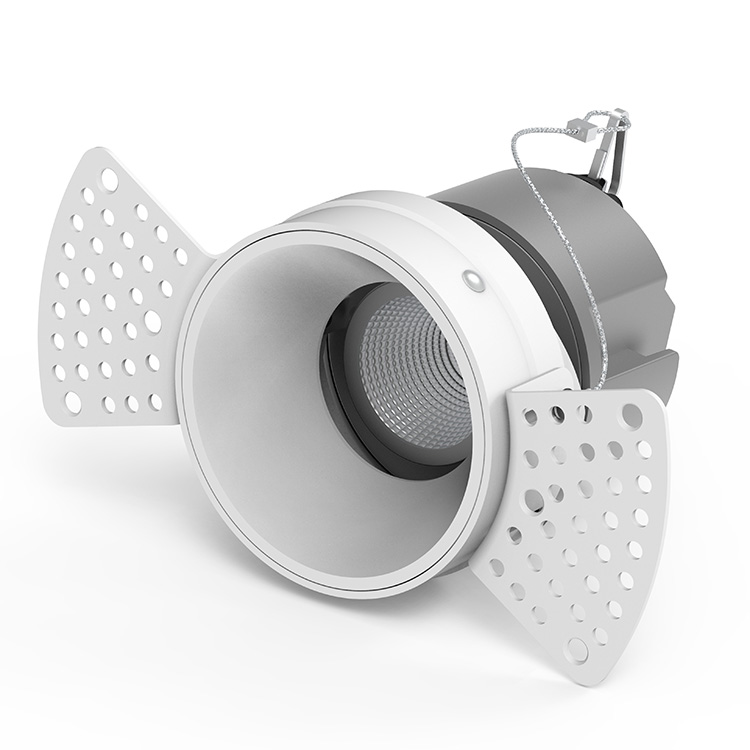 White Trimless Adjustable Downlights
